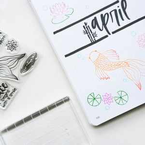 Koi Pond Stamp Set Stamped