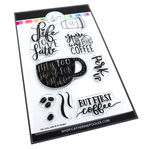 Life, Love, Latte Stamp Set