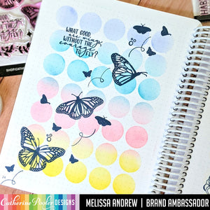 Month in Circles with Just Soar Butterfly Canvo Page