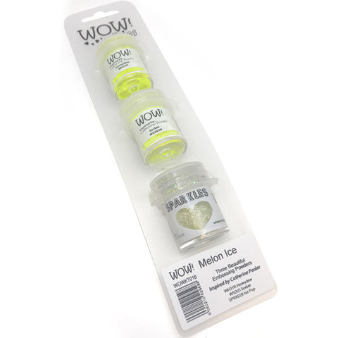 Melon Ice Embossing Trio by WOW