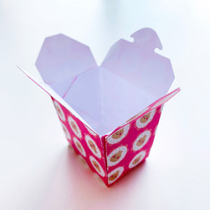 Mini Take Out Box with Dumpling I Love you Soy Patterned Paper