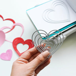Nested Stitched Hearts Dies