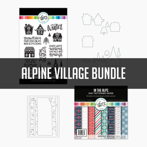 Alpine Village Bundle dies, stamps and paper