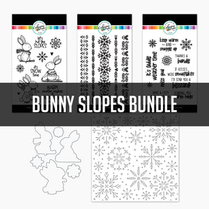 Bunny Slopes Bundle stamps, dies and stencil