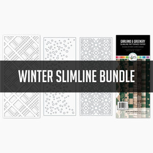 Winter Slimline Bundle Dies and Paper