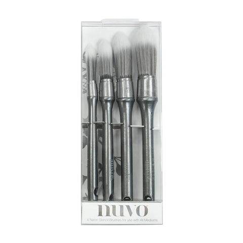 Stencil Brushes 4 pack by Nuvo