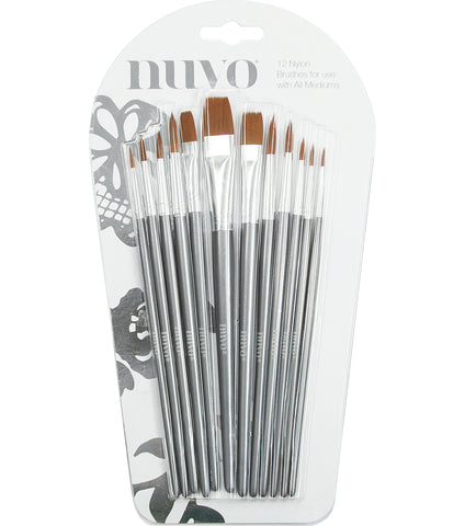 Paint Brushes 12 pack by Nuvo