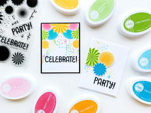 Party Fans Stamp Set