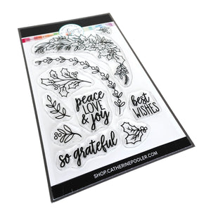 Peace Love and Holly Stamp Set