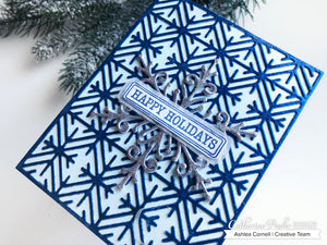 Geometric Flakes Cover Plate Die