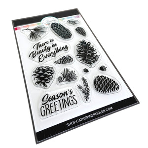 Pinecone Greetings Stamp Set