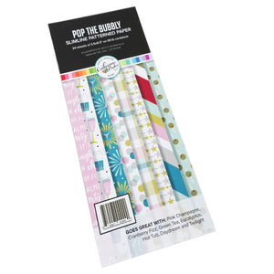 Pop the Bubbly Slimline Patterned Paper
