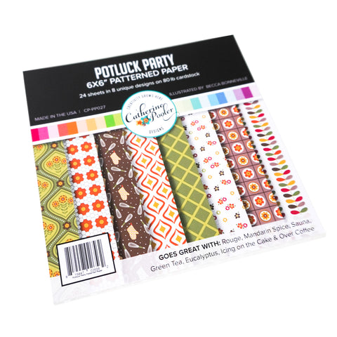 Potluck Party Patterned Paper