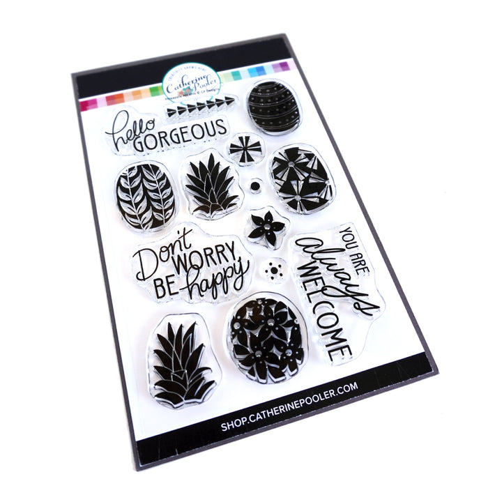 Preppy Pineapples Stamp Set