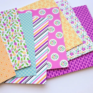 Preppy Prints Patterned papers laid out