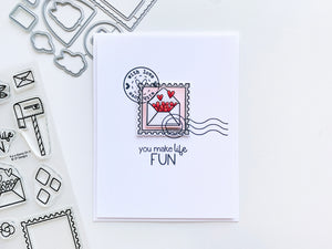 Make life fun postmark card