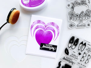 Radiant Heart Stencil