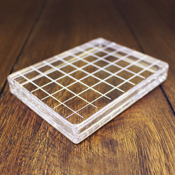 Lg Rectangle Acrylic Grid Block