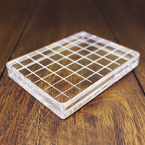 Large Rectangle Acrylic Grid Stamping Block 3-1/4 x 4-1/4""