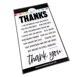 Sincere Thanks Stamp Set