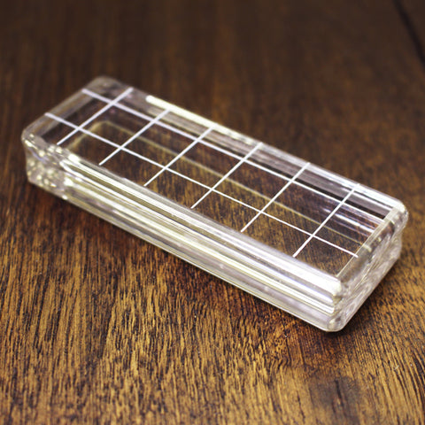 Small Rectangle Acrylic Grid Stamping Block 1-1/4 x 3-1/2""