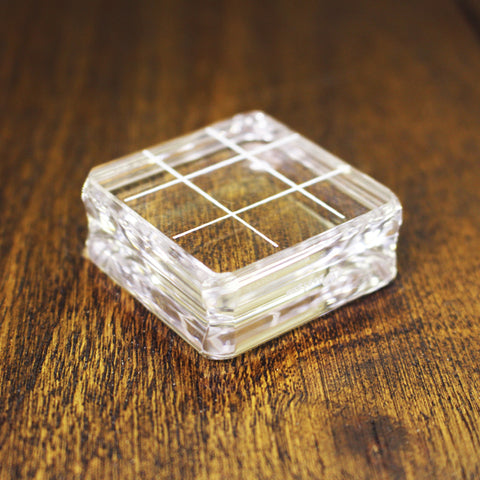 Small Square Acrylic Grid Stamping Block  1-1/2 x 1-1/2""