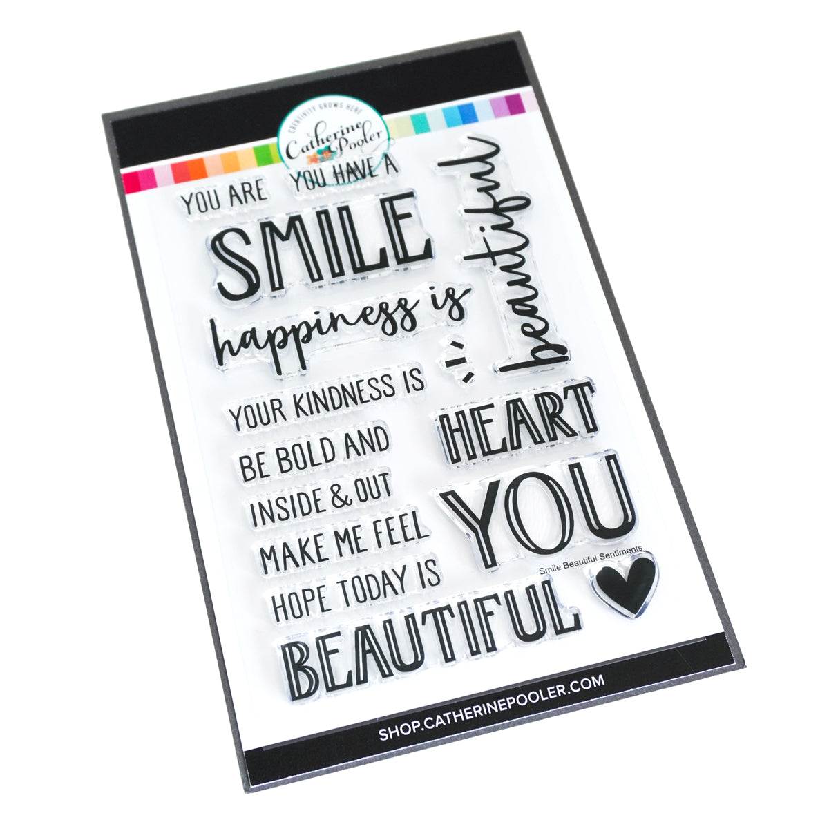 Catherine Pooler Designs Smile, Beautiful Sentimetns Stamp Set