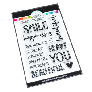 Smile, Beautiful Sentiments Stamp Set
