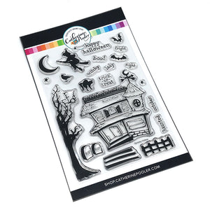 Halloween build a scene clear stamp set
