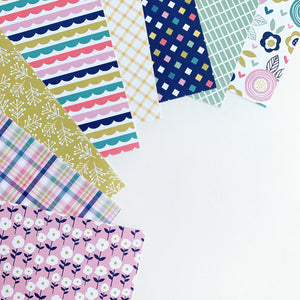 Spring Pick-n-mix Patterned Paper laid out