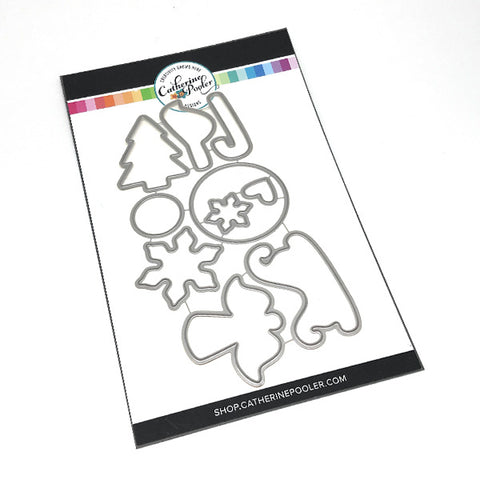 Stainless Steel Craft Die Cuts cookie cutter dies for the Christmas Cookies Clear Stamp Set by Catherine Pooler Designs