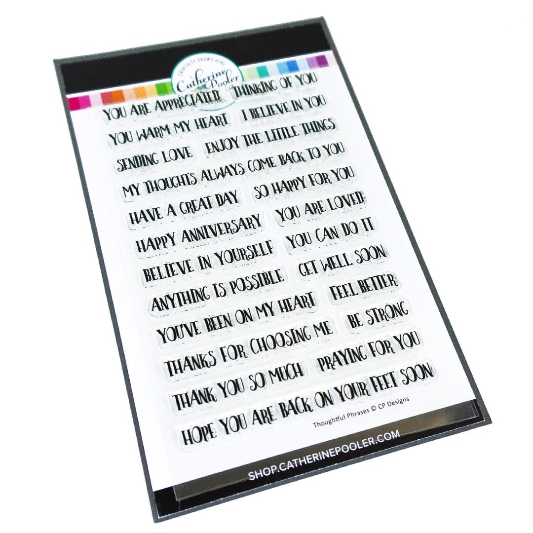 Catherine Pooler Designs Thoughtful Phrases Stamp Set
