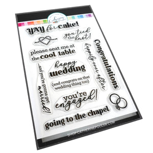 Tie the Knot Sentiments Stamp Set