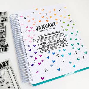 Turn Up the Beat boom Box January Canvo Cover page