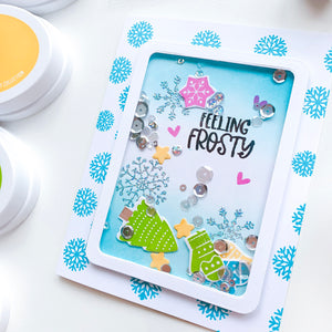 Feeling Frosty shaker card with Winter Wishes elements