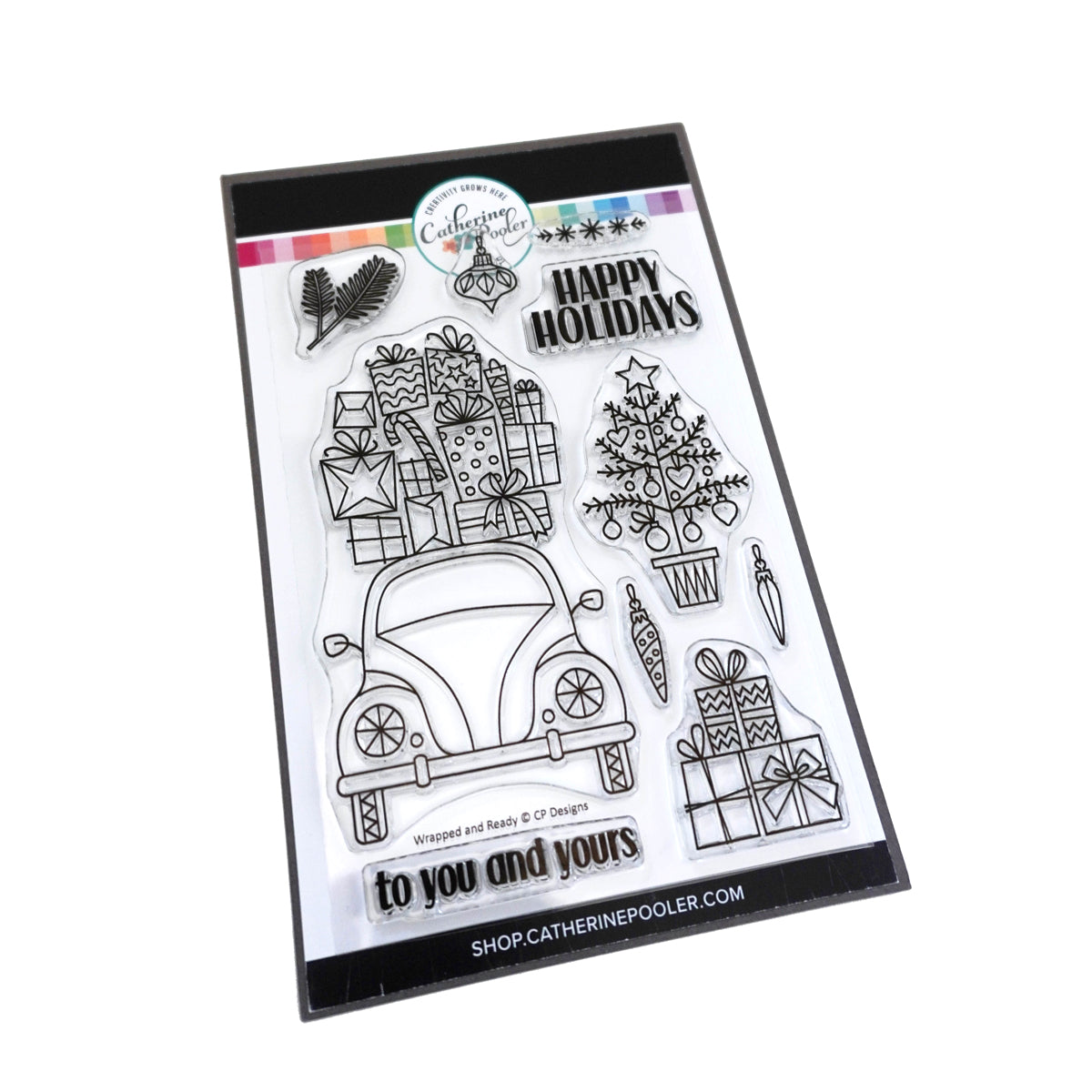Catherine Pooler Designs Wrapped and Ready Stamp Set