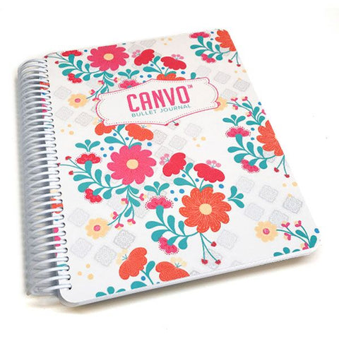 Whimsical Blooms Canvo Journal