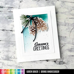 pinecones season greetings card