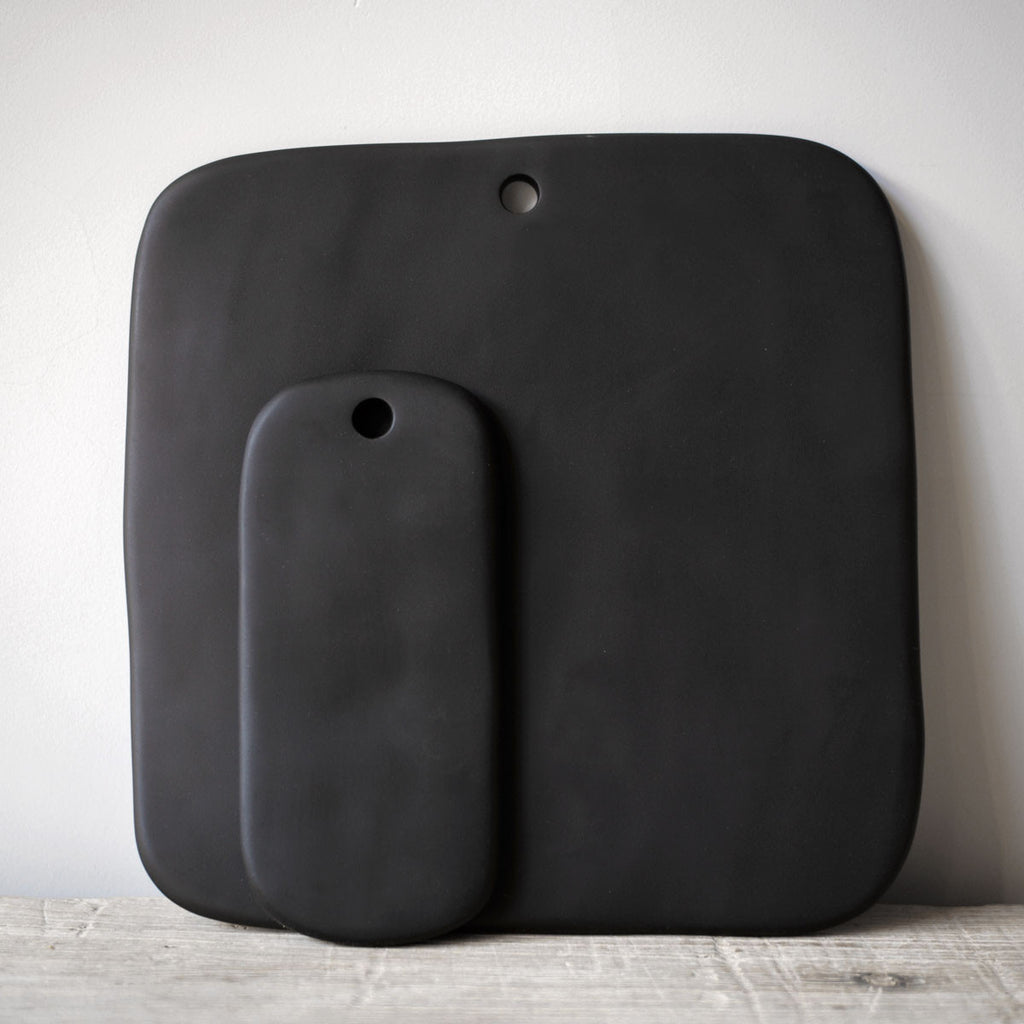 black resin serving boards