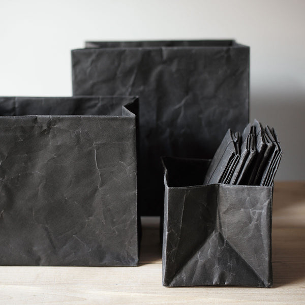 black paper containers