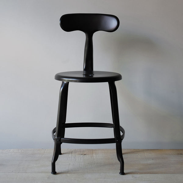 black industrial chair