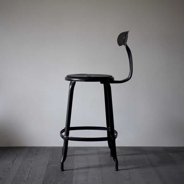 black industrial counter chair