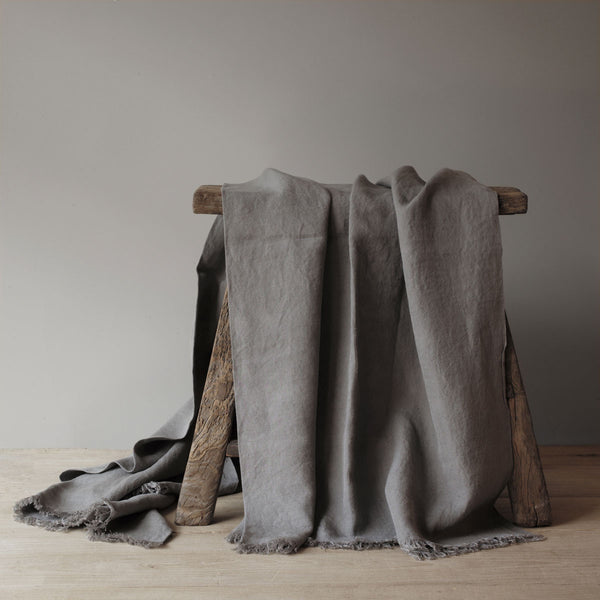grey spanish linen throw