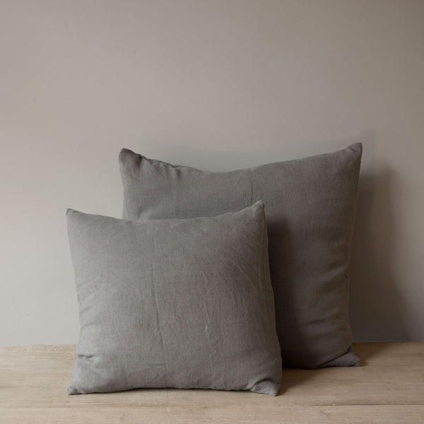 grey spanish  linen cushions