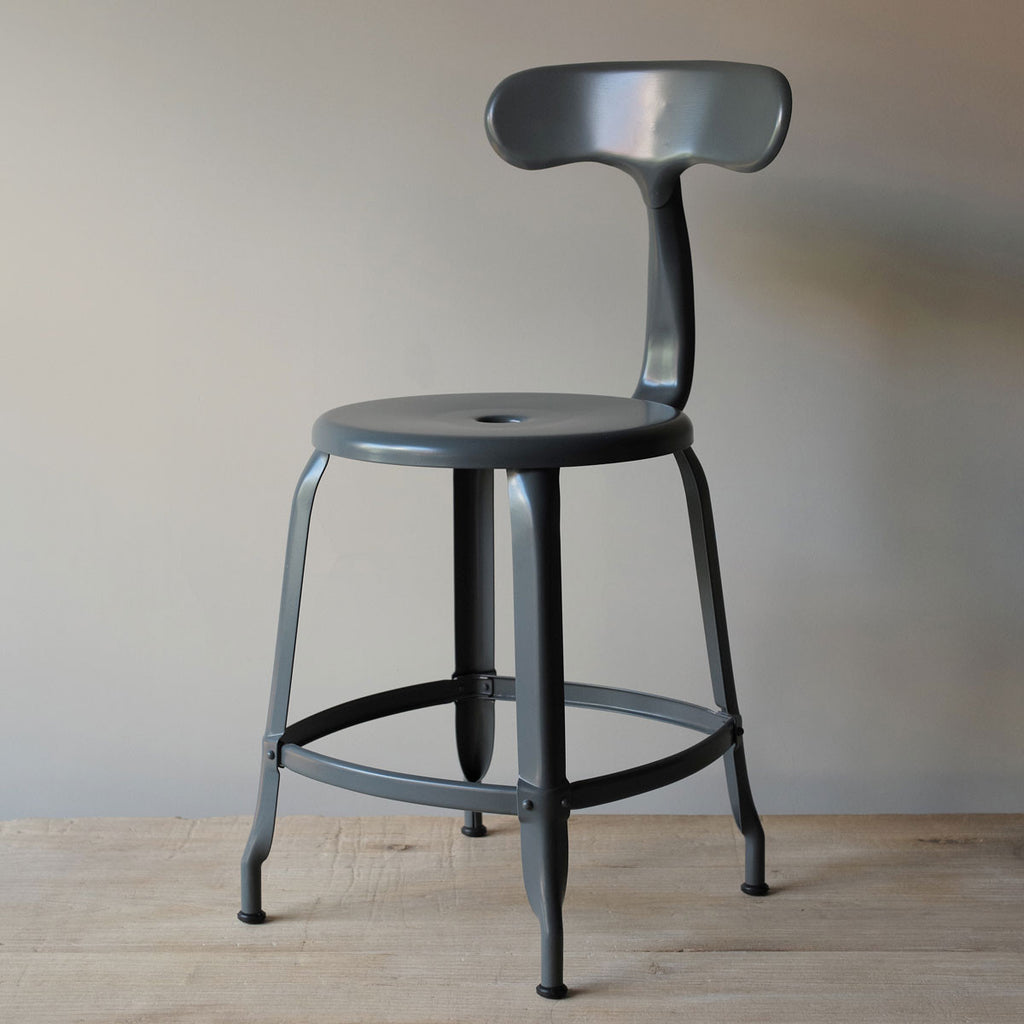 grey industrial chair