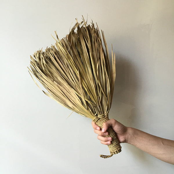 natural palm leaf hand broom