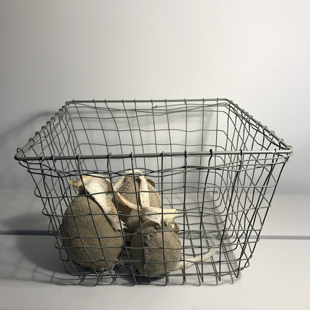 gray wire containers