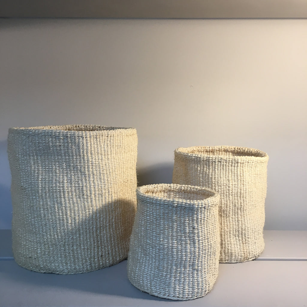 White Sisal Baskets