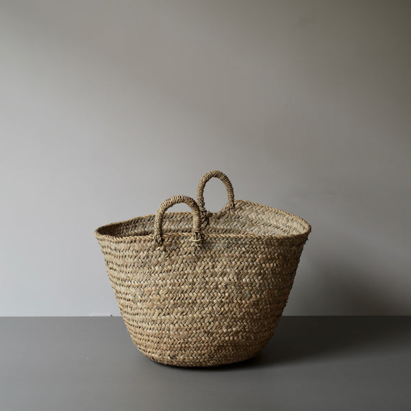 oversize palm leaf basket