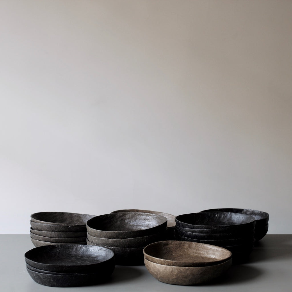 taupe pebble bowls and platters